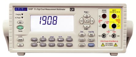 Aim-TTi 1908 Bench Digital Multimeter, 10A ac 1000V ac 10A dc 1000V dc