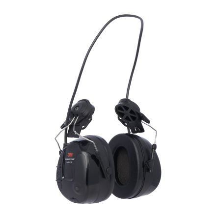 3M PELTOR ProTac III 3.5 mm Jack Plug Listen Only Electronic Ear Defenders with Helmet Attachment, 31dB