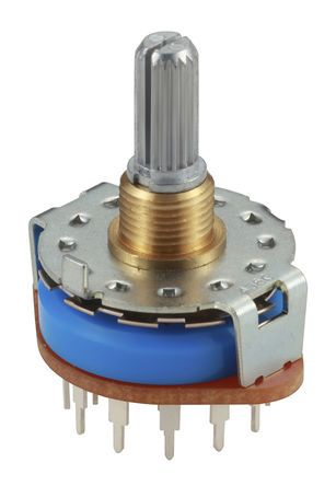 Alps Alpine, 3 Position 4P3T Rotary Switch, 250 mA, Pc Pin product photo