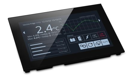 Lascar PanelPilot , TFT Colour Digital Panel Multi-Function Meter for Current, Voltage, 117mm x 180mm