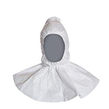 CP977 White Anti-Static Disposable Polyethylene Personnal Protection Hood product photo
