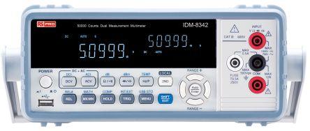 RS Pro IDM8342 Bench Digital Multimeter, 10A ac 750V ac 10A dc 1000V dc with RSCAL calibration