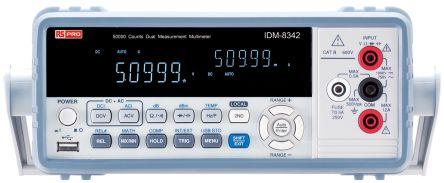 RS Pro IDM8342 Bench Digital Multimeter, 10A ac 750V ac 10A dc 1000V dc with UKAS calibration