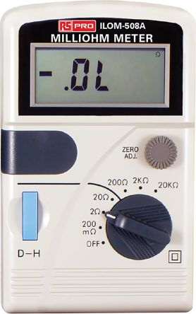 Ohm Meter RS Calibration, Maximum Resistance Measurement 20 kO, Resistance Measurement Resolution 100µO product photo