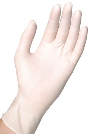 Natural Latex Gloves size 9 - L Powder-Free x 100 product photo