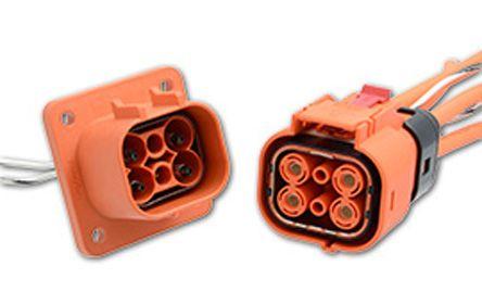 Konektory pro elektrická vozidla C10-738025-2AP4 2 kontakty 7.5 → 70A Samice (konektor) 800 V ac samec (kontakt)