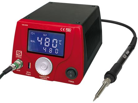 60W LCD Soldering Station, UK+ Euro Plug