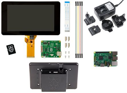 DesignSpark Raspberry Pi 3 Premium Display Kit LCD Display Starter Kit Pi_Display_Kit