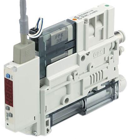 SMC Vacuum Ejector, 1.2mm nozzle , -91kPa 61L/min