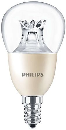 Philips Master E14 GLS LED Candle Bulb 8 W(60W), Warm White Dimmable