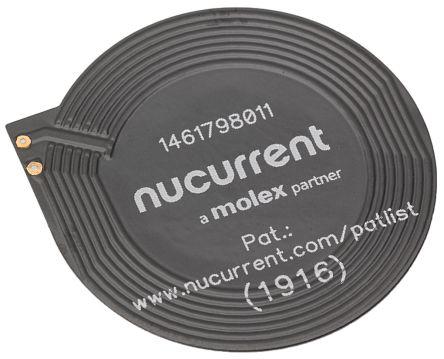 Molex Wireless Charging Receiver Coil, Copper, 26.5mm dia., 245mΩ, 90 Q Factor