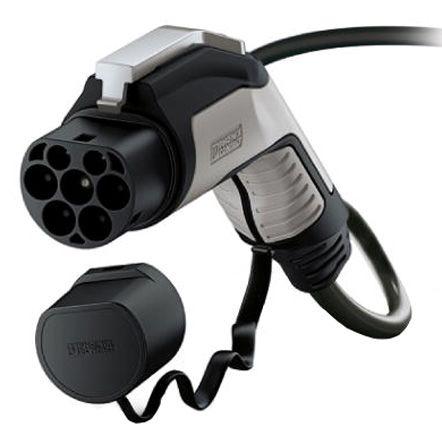 Phoenix Contact EV-GBG3K-1AC16A-5 0M2 5ESBK01 Series, GB/T Electric vehicle  connector Plug, 16 (Power Contact) A, 2