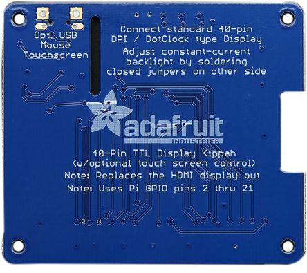 Adafruit 2454, DPI TFT Kippah Interface Board for Raspberry Pi
