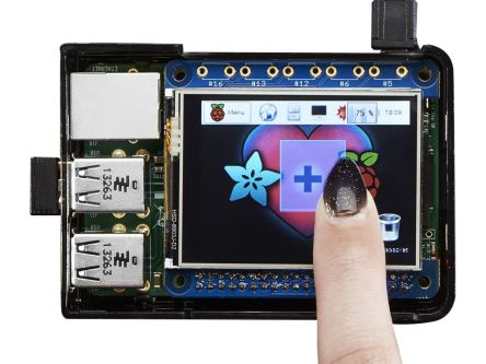 ADAFRUIT INDUSTRIES, PiTFT with 2.4in Resistive Touch Screen