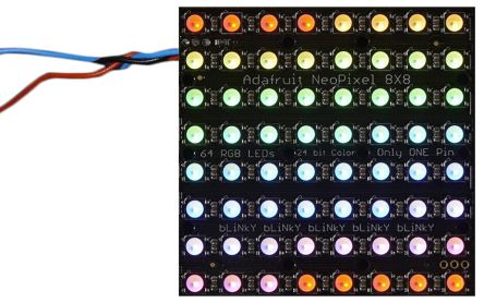 Adafruit 2872, NeoPixel NeoMatrix 64 RGBW Cool White LED Matrix Module