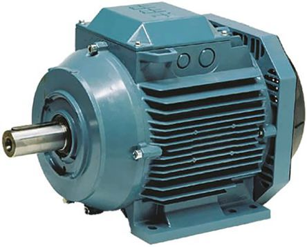 ABB M3AA Reversible Squirrel Cage Motor AC Motor, 7.5 kW, IE3, 3 Phase, 2 Pole, 400 V, Flange Mount Mounting