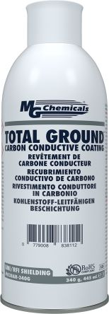 Black MG Chemicals Acrylic Aerosol Conductive Lacquer Electric Guitars, Electronic Instruments, Metal Detectors,