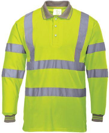 RS PRO Yellow Unisex Hi Vis Polo Shirt, S