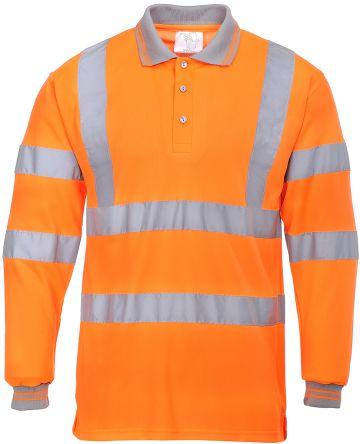 RS PRO Orange Unisex Hi Vis Polo Shirt, L