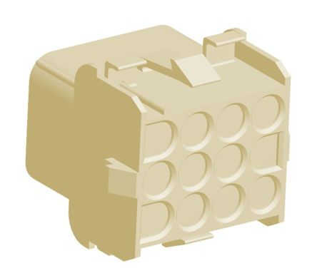 1-1863006-2 - Female Connector Housing - Universal MATE-N-LOK, 6.35mm Pitch, 12 Way, 3 Row product photo