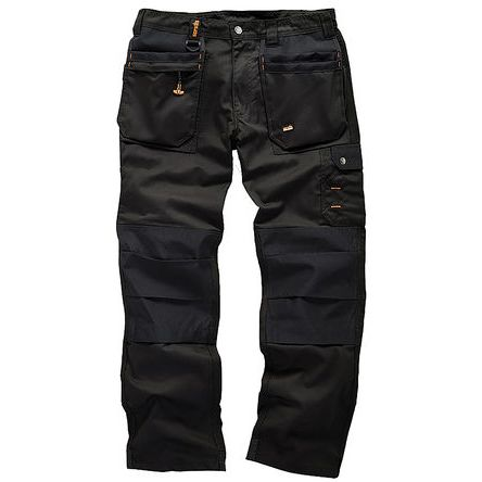 Worker Plus Black Men's Cotton, Polyester Trousers Imperial Waist 34in product photo