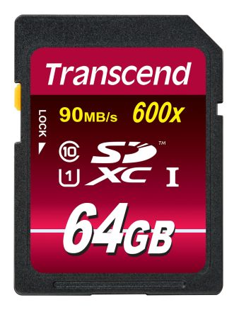 TS64GSDXC10U1 Transcend | Transcend 64GB SDXC UHSI Card 600x | 124