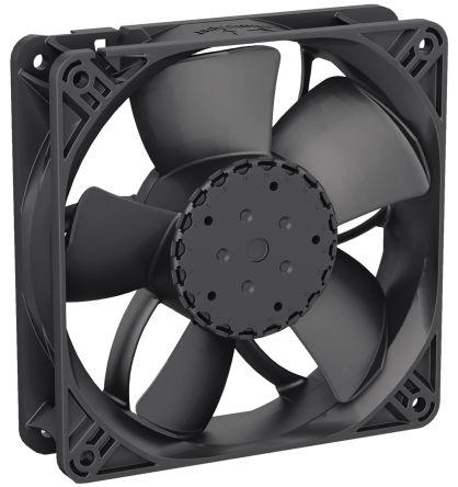 ebm-papst 4300N Series Axial Fan, 119 x 119 x 32mm, 190m³/h, 4W, 24 V dc, IP68