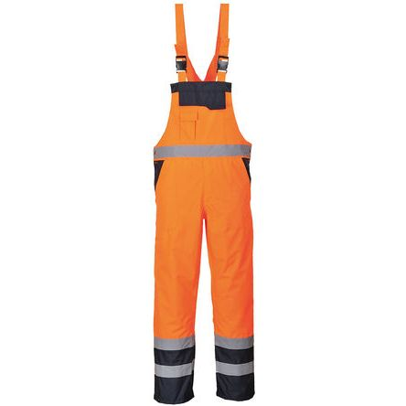 Unisex Orange/Navy Bib & Brace, XL product photo
