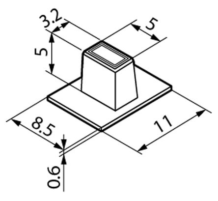 Slide Switch Knob for use with SS Series Ultra Miniature Slide Switches