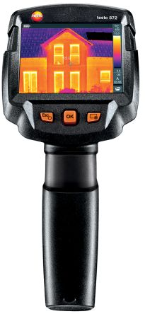 Thermal imaging camera in use