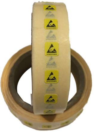 RS PRO Yellow/Black Paper ESD Label, AUFMERKSAMKEIT-Text 5 mm x 5mm