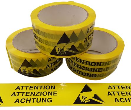 Packing tape in 3 Languages 66m
