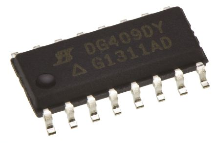DG412LEDY-GE3 Vishay, Multiplexer Quad SPST, 3 → 16 V, 16-Pin SOIC