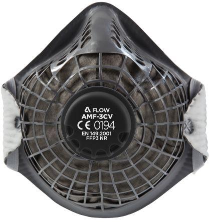 Alpha Solway AMF-3CV FFP3 Disposable Face Mask, Valved Adjustable Nose Clips
