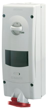 Switchable IP44 Industrial Interlock Socket 3P+N+E, Earthing Position 6h, 16A, 400 V product photo
