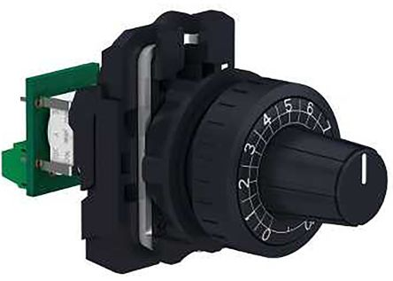 Schneider Electric XB5 Series Potentiometer With Knob with a 6 mm Dia. Shaft, 10kΩ, ±10%, 1W, Panel Mount