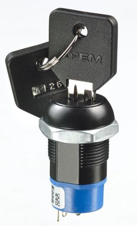 Keylock Switch, DP3T, 4 A 3-Way product photo