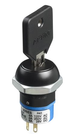 Keylock Switch, Single Pole Double Throw (SPDT), 4 A 2-Way product photo