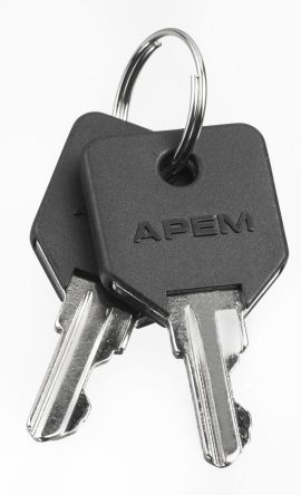 SPARE KEY BLACK OVERMOULDED