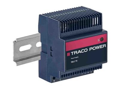 TRACOPOWER, TBLC DIN Rail Power Supply, 12V dc Output Voltage, 6A output  current
