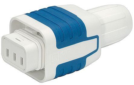 Schurter S15 Cable Mount IEC Plug Socket, 10 (IEC) A, 15 (UL/CSA) A, 250 V ac