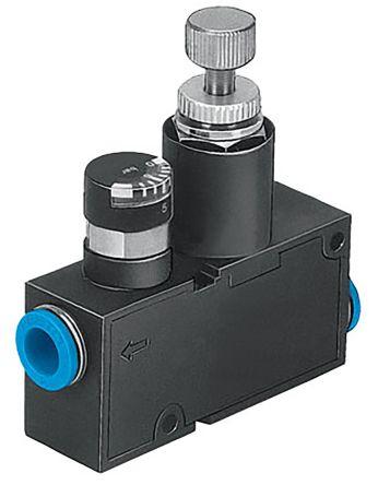 Festo Pneumatic Regulator 36 → 124L/min Push In 6 mm