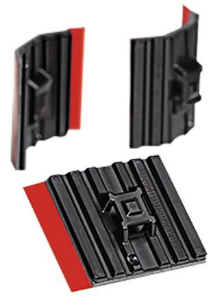 037bbb05bcd6 HellermannTyton Self Adhesive Black Cable Tie Mount 28