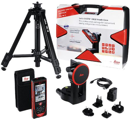 D810 Touch Pro Pack Laser Measure, 200 m Range, ± 1 mm Accuracy product photo