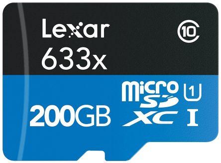 carte sd 200 go LSDMI200BBEU633R | Lexar 200 GB MicroSDHC, MicroSDXC Micro SD Card