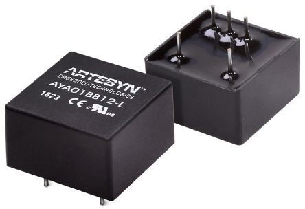 Artesyn Embedded Technologies AYA 3W Isolated DC-DC Converter Through Hole, Voltage in 4.5 → 10 V dc, Voltage