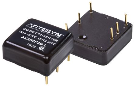 Artesyn Embedded Technologies AXA 19.8W Isolated DC-DC Converter Through Hole, Vin 18 → 75 V dc, Vout 3.3V dc