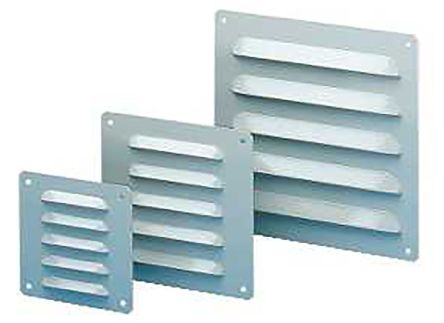 Grey Steel Vent Grille, 160 x 160mm product photo