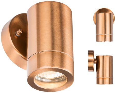 Knightsbridge Halogen, LED Fixed Wall Light, 35 W, 60 (Dia.) x 101 mm