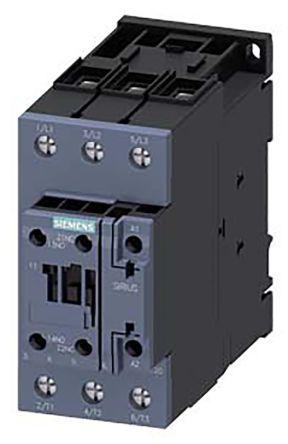 Sirius Innovation 3RT2 3 Pole Contactor, 3NO, 65 A (AC3), 30 kW (AC3), 110 V ac Coil, Screw Terminal